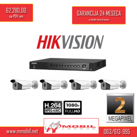 Hikvision 2Mpx FullHD 4kamere